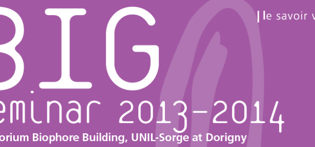 Biology and integrative genetics Every first Monday of the month 16h15, Auditorium Biophore Building UniL-Sorge at Dorigny (download the poster) BIG is an initiative of the Faculty of Biology and […]