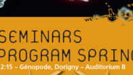 CIG Seminars Spring 2020 Monday 12:15, Génopode, auditorium B, followed by pizza for registered PhD students & postdocs Free entrance Download the poster Monday January 27, 2020 Doris Wagner, University of […]