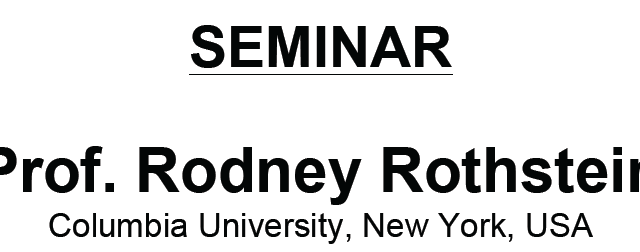 """Download the poster SEMINAR Prof. Rodney Rothstein Columbia University, New York, USA """"Using budding yeast to uncover synthetic genetic interactions and discover novel anticancer therapeutic targets""""  Thursday January 29, […]"""