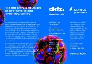 DKFZ_PhD Program_Flyer