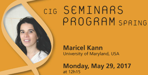 CIG Seminars Spring 2017 Monday 12:15, Génopode, auditorium B, followed by sandwiches Download the poster   Monday May 29, 2017 Maricel Kann, University of Maryland, USA «A protein-domain approach for the […]