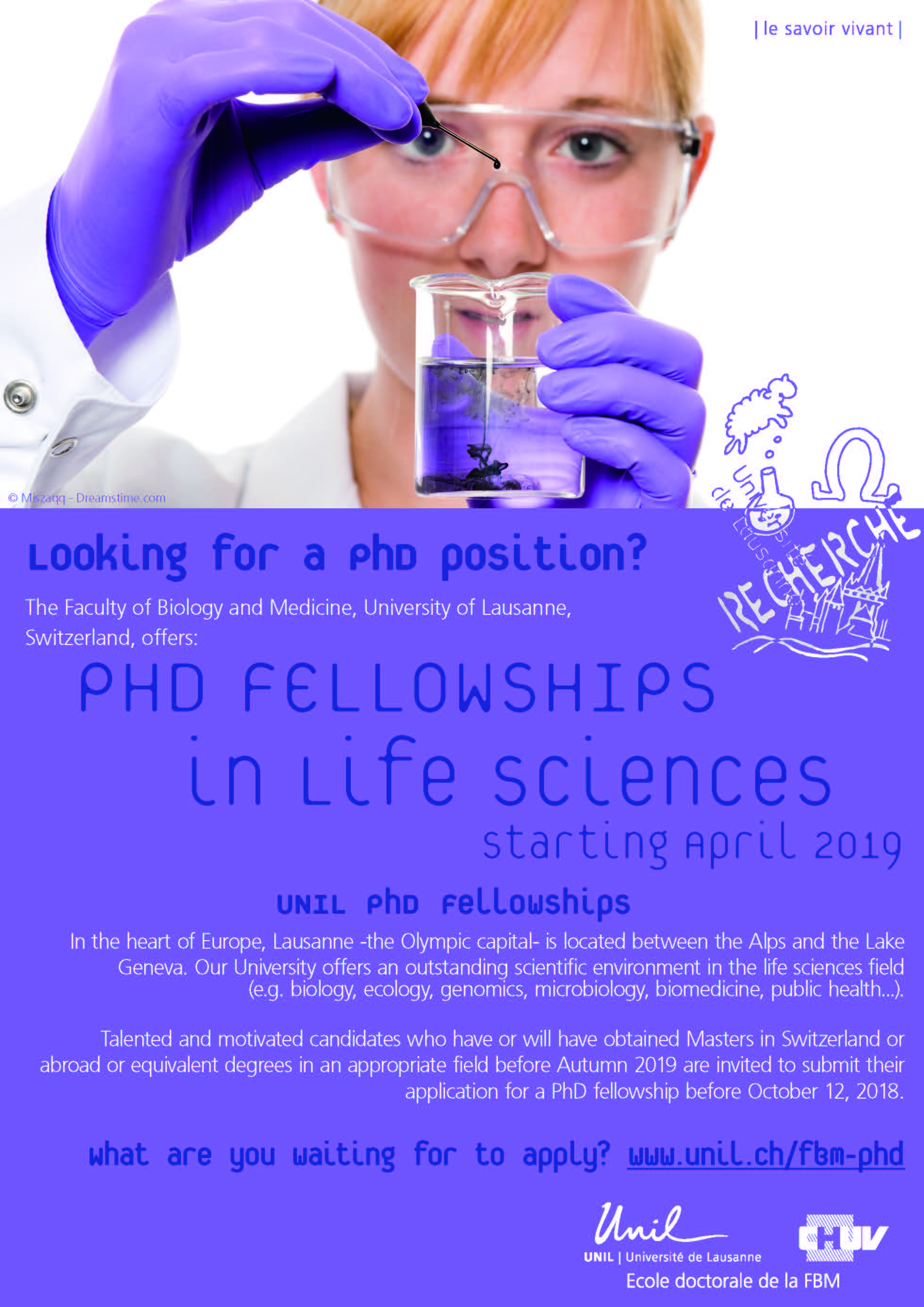 PhD Fellowships in Life Science 2019