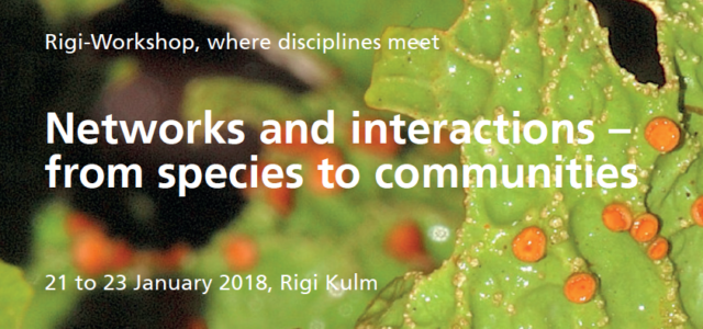 Networks and interactions – from species to communities, Rigi-Workshop, where disciplines meet, 21 – 23 January 2018, Rigi Kulm   Want to learn about biological, evolutionary and social interactions of […]