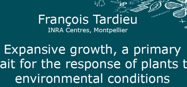 """DBMV / CIG Seminar Dr. François Tardieu Research Director INRA Montpellier Wednesday April 22 at 11h15 title: """"Expansive growth, a primary trait for the response of plants to environmental conditions"""" […]"""