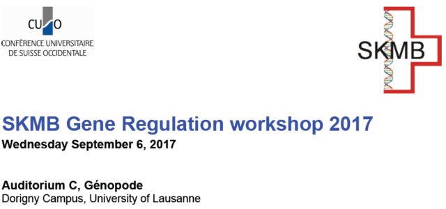 Dear all, The 2017 SKMB Gene Regulation Workshop will take place on Wednesday September 6. As in previous years, we have a great lineup of speakers and attendance is free. […]